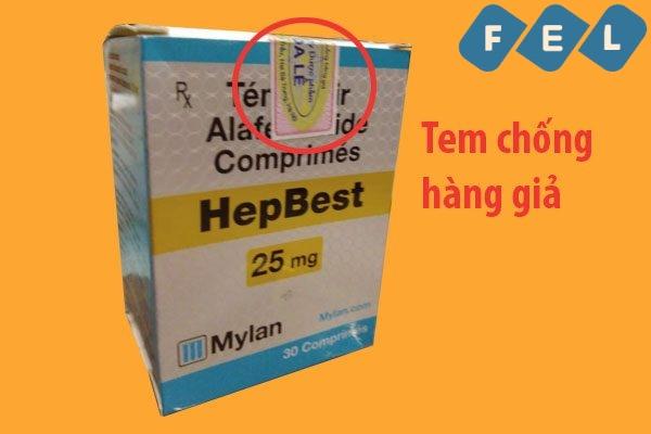 Hepbest thật có tem chống hàng giả của nhà sản xuất