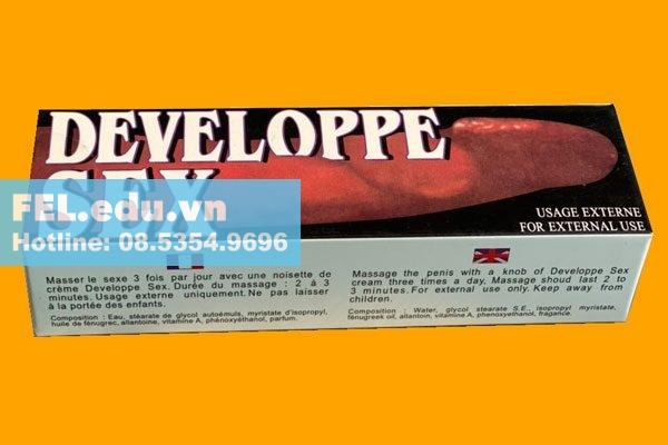 Kem Developpe Sex có tác dụng gì?