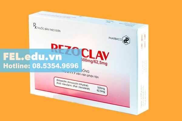 Công dụng của Rezoclav 500mg/62.5mg