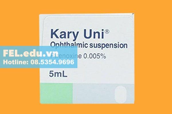 Thuốc Kary Uni nhỏ lâu có hại cho mắt không?