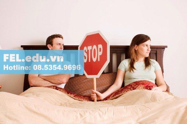 Tuyệt đối không quan hệ tình dục khi sử dụng thuốc đặt Canesten