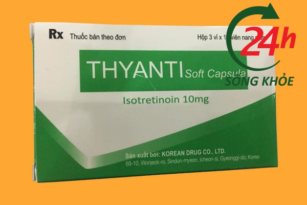 Thuốc Thyanti Soft Capsule Isotretinoin 10mg