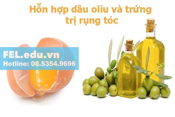 Dùng hỗn hợp dầu oliu và trứng trị rụng tóc