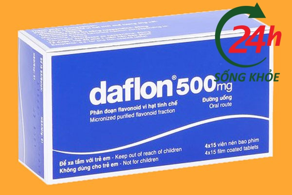 Hộp thuốc Daflon 500mg