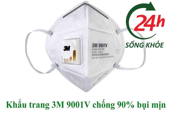 Khẩu trang 3M 9001V chống 90% bụi mịn