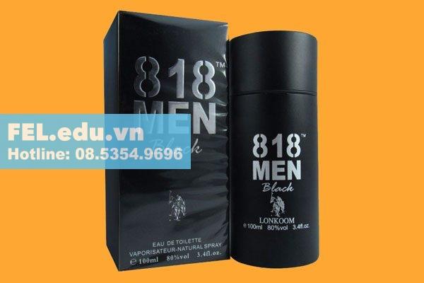 818 Men Black