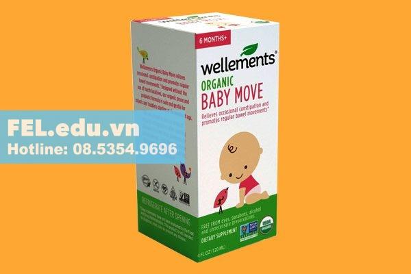 Siro trị táo bón Wellements Organic Baby Move
