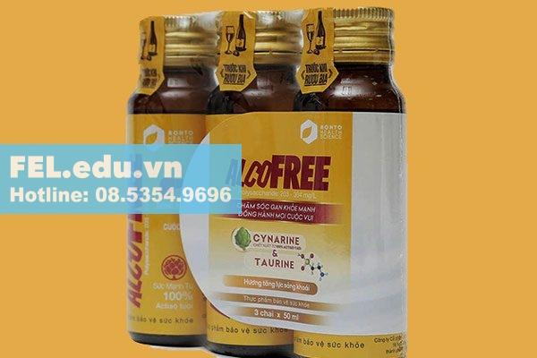 Nước giải rượu Alcofree là sản phẩm thực phẩm bảo vệ sức khỏe