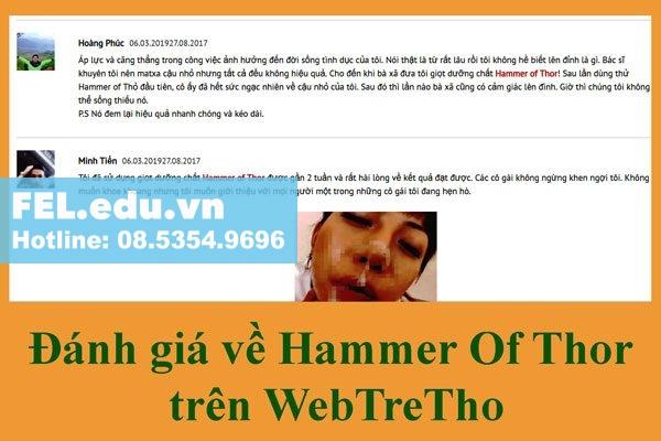 Đánh giá Ham Hammer of thor trên webtretho