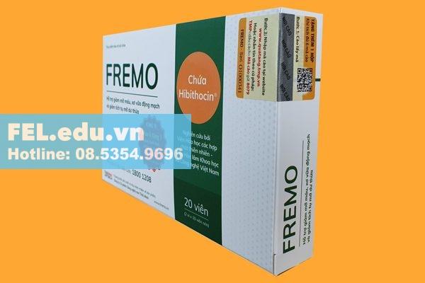FREMO là sản phẩm thuộc nhóm thực phẩm bảo vệ sức khỏe với công dụng chính là giúp hạ mỡ máu, giảm tích tụ mỡ dư thừa, giảm mỡ gan hiệu quả