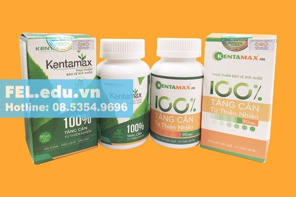 Một số loại thực phẩm chức năng tăng cân Kentamax