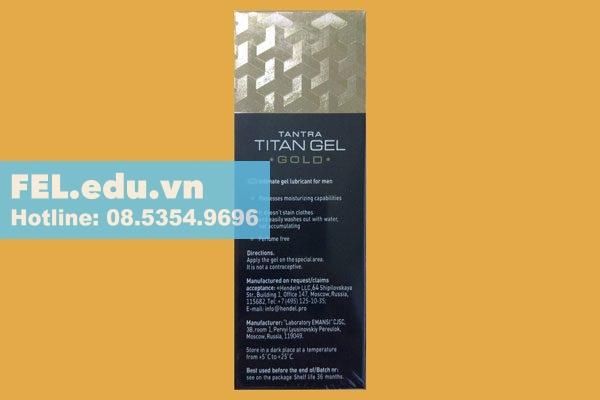 Titan gel gold có tác dụng như thế nào?