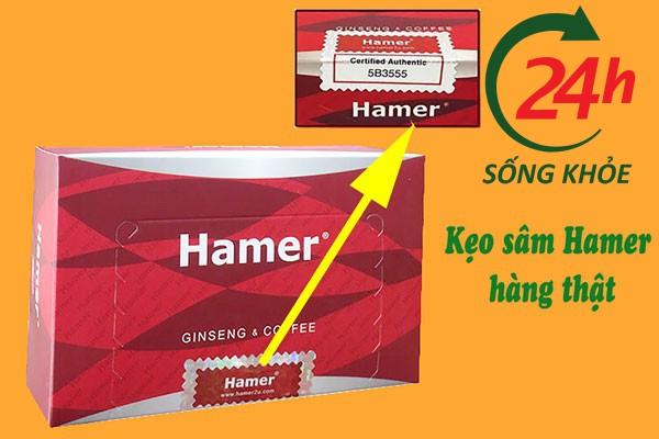 Kẹo sâm Hamer hàng thật có tem chống giả