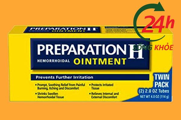 Hộp thuốc bôi trĩ Preparation H