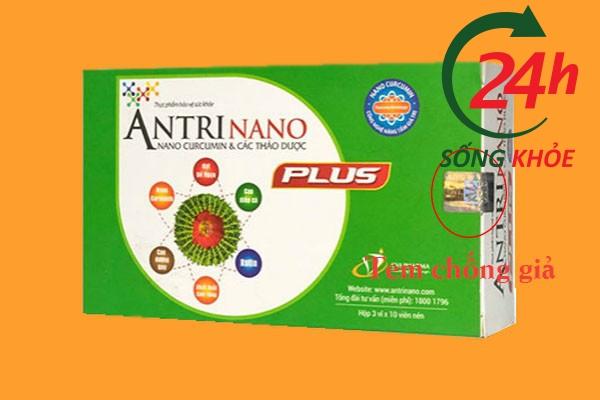 Tem chống giả trên vỏ hộp Antrinano Plus