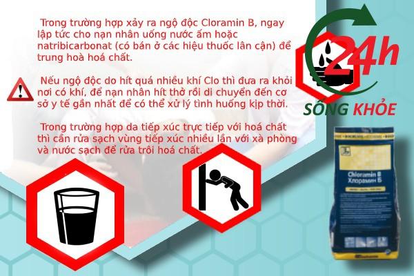 Cách xử lý ngộ độc Cloramin B