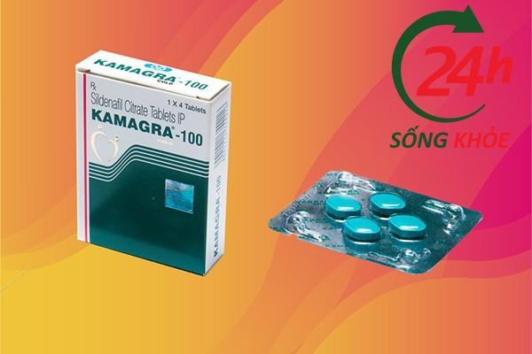 Hộp Kamagra gồm vỉ 4 viên