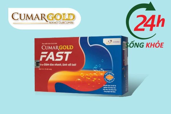 Cumagold Fast sử dụng cho người mắc viêm loét dạ dày tá tràng