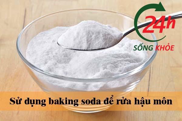 Sử dụng baking soda để rửa hậu môn