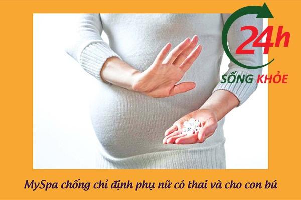Chống chỉ định đối với phụ nữ có thai và cho con bú