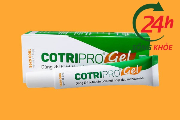 Thuốc chữa bệnh trĩ ngoại Cotripo gel