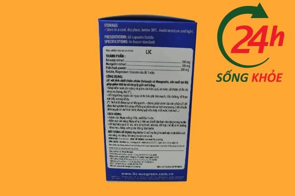 Cách dùng và liều lượng khi sử dụng thuốc giảm cân LIC