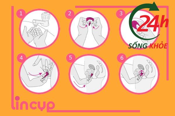 Hướng dẫn sử dụng Cốc Nguyệt San Lincup