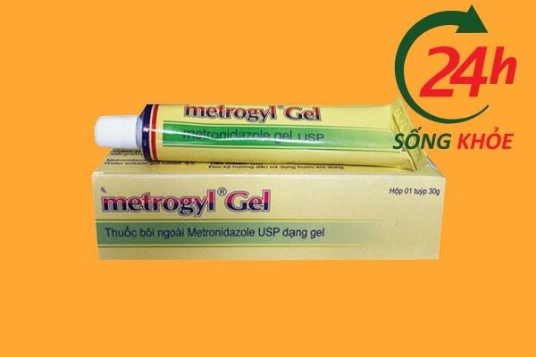 Thuốc trị mụn trứng cá Metrogyl Gel
