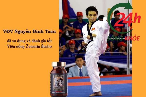 VĐV Nguyễn Đình Toàn đánh giá viên uống Zetsurin Busho