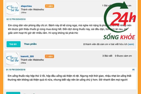 REVIEW của người dùng Antrinano Plus trên Webtretho