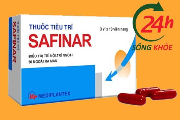 Thuốc trị búi trĩ Safinar