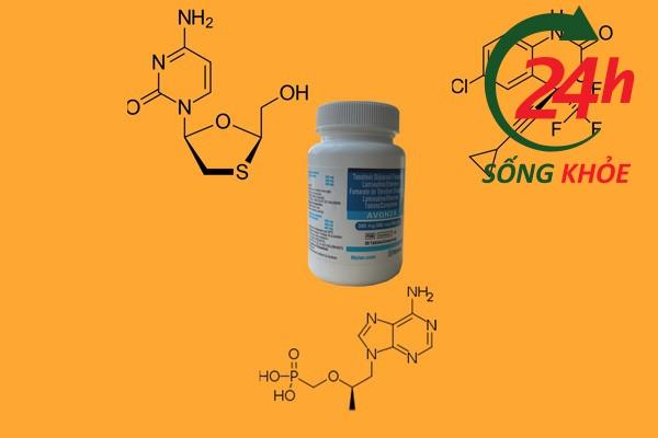 Công thức hóa học của 3 hoạt chất chính trong viên thuốc Avonza