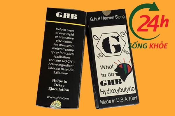 Thuốc ngủ mạnh dạng nước GHB