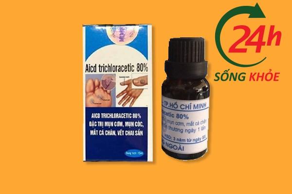 Thuốc bôi trị mụn cóc Acid Trichloracetic