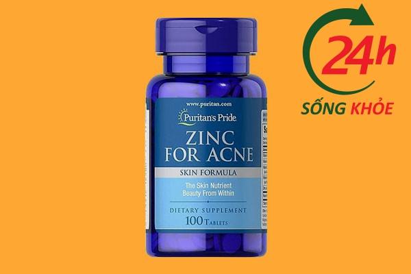 Thuốc uống trị mụn lưng Zinc For Acne