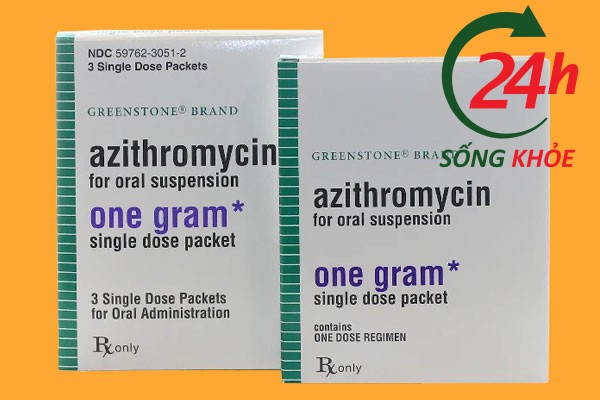 Thuốc Azithromycin 1g (1000mg)