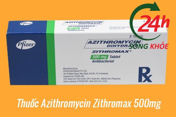 Thuốc Azithromycin Zithromax 500mg