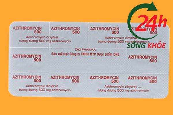 Thuốc Azithromycin 500mg giá bao nhiêu?