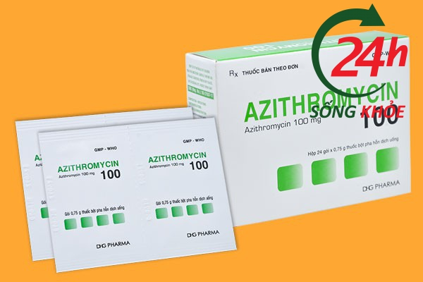 Thuốc kháng sinh Azithromycin 100mg
