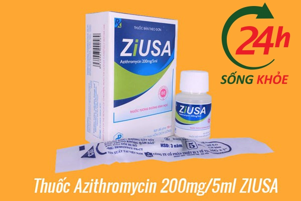 Thuốc Azithromycin 200mg/5ml ZIUSA