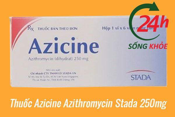 Thuốc Azicine Azithromycin Stada 250mg