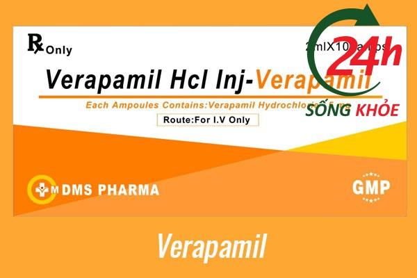 Thuốc điều trị tăng huyết áp: Verapamil