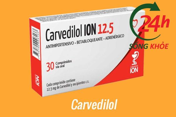 Thuốc điều trị tăng huyết áp: Carvedilol