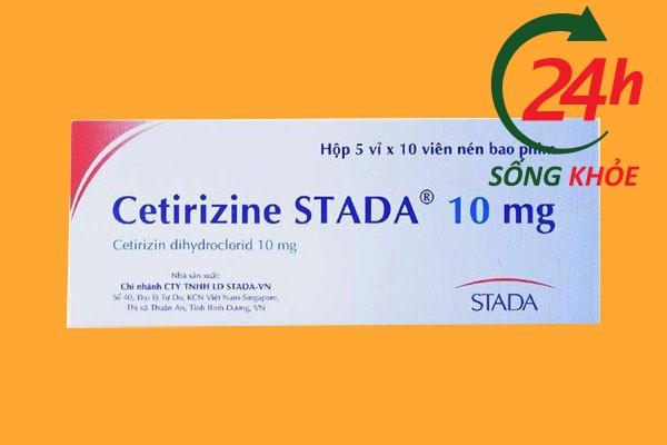 Liều dùng Cetirizin 10mg