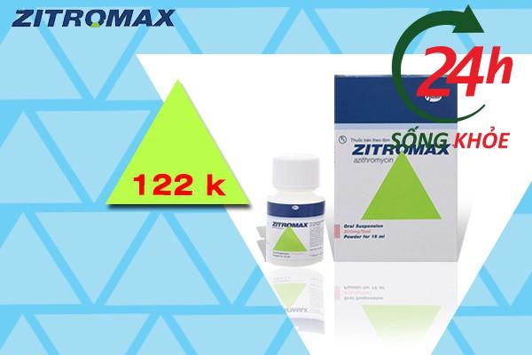 Giá bán trên thị trường của Zithromax 200mg/5ml