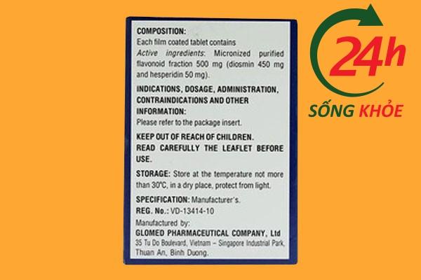 Tác dụng của thuốc Hesmin 500mg
