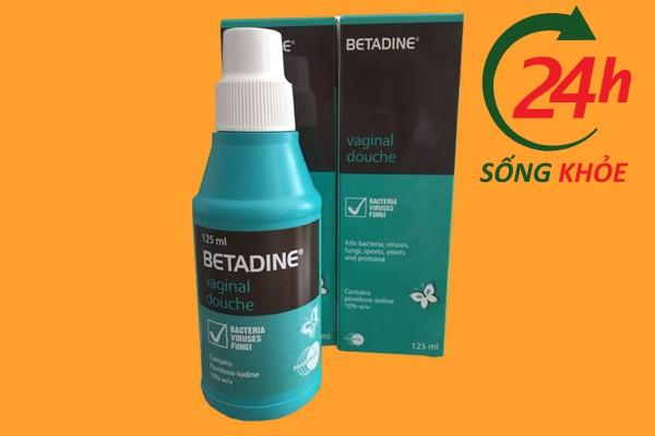 Cách dùng Betadine xanh rửa phụ khoa