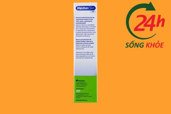 Hình ảnh: Mặt sau của sản phẩm Hemoclin
