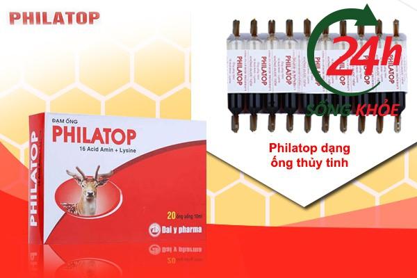 Philatop có thành phần chính là nhau thai