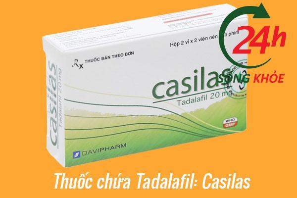 Chế phẩm chứa Tadalafil: Casilas Tadalafil 20mg